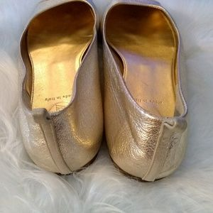 J. Crew Shoes - J. Crew metallic gold leather flats sz 9.5